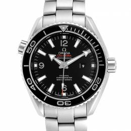 Omega Black Stainless Steel Seamaster Planet Ocean 600M 232.30.38.20.01.001 Men's Wriswatch 37.5 MM 232691
