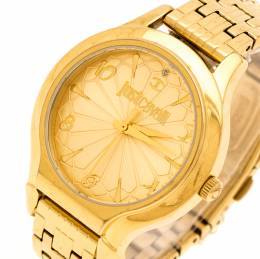 Just Cavalli Yellow Gold Plated Stainless Steel R7253533501 Women's Wristwatch 36 mm 232553