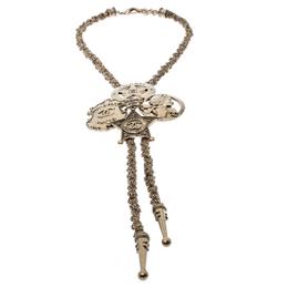 Chanel Paris-Dallas Sheriff Star Gold Tone Bolo Necklace 232999