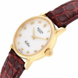 Rolex MOP 18K Yellow Gold Cellini Classic 6110 Women's Wriswatch 26 MM 232708