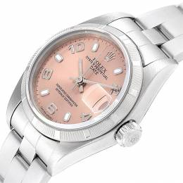 Rolex Salmon Stainless Steel Date Automatic 79190 Women's Wriswatch 25 MM 232720