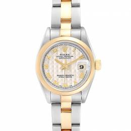 Rolex Ivory 18K Yellow Gold and Stainless Steel Datejust 69163 Women's Wristwatch 26MM 232870