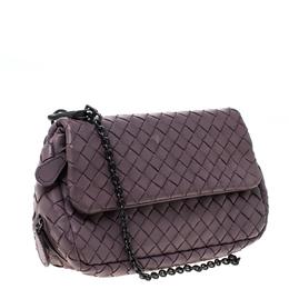 Bottega Veneta Light Purple Intrecciato Small Chain Crossbody Bag 227671