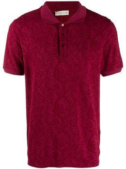 Etro рубашка-поло с принтом пейсли 1Y8009701