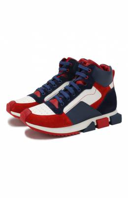 Кожаные кроссовки Dolce & Gabbana DA0740/AA114/29-36