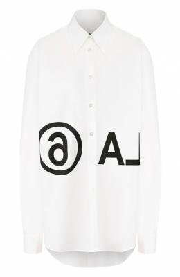 Хлопковая рубашка Mm6 Maison Margiela S52DL0097/S47294