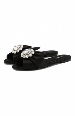 Текстильные шлепанцы Bianca Dolce & Gabbana CQ0293/A7630
