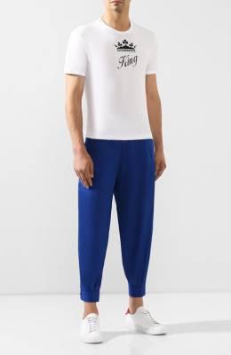 Хлопковые брюки Dolce & Gabbana GYTFAT/FU5K9