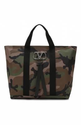 Текстильная сумка-шоппер Valentino Garavani VRing Valentino SY2B0837/PGP