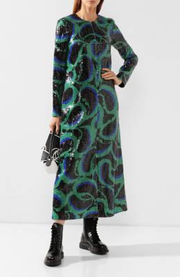 Платье с пайетками Marni ABMA0062U1/TP657