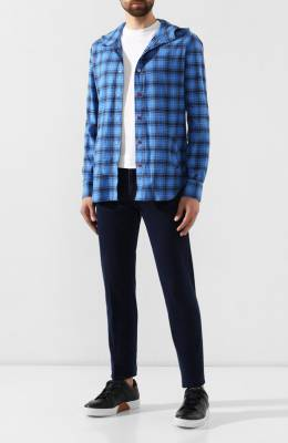 Хлопковая рубашка Kiton UMCMARH0707742