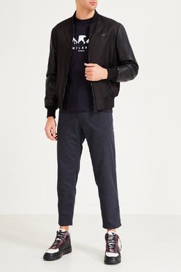 Комбинированные кожаные кеды Emporio Armani 2706153790