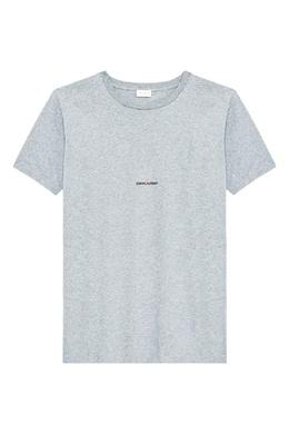 Серая футболка с надписью Saint Laurent 1531157034