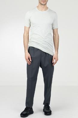 Серая удлиненная футболка Rick Owens 43157090