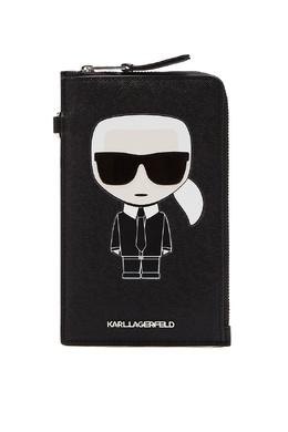 Черная сумка для телефона с логотипами Karl Lagerfeld 682157066