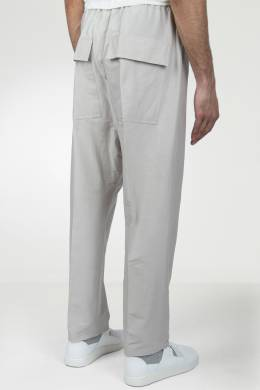 Серые брюки на резинке Rick Owens 43157099