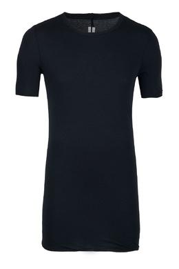 Удлиненная черная футболка с драпировкой Rick Owens 43157091