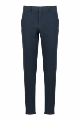 Прямые серо-синие брюки из хлопка Strellson 585157013