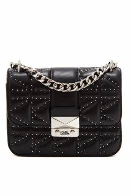 Черная сумка кросс-боди с отделкой Karl Lagerfeld 682157014