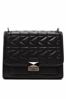 Черная сумка со стеганой отделкой Karl Lagerfeld 682157124