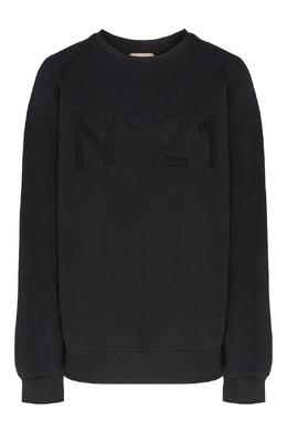 Базовый свитшот черного цвета No. 21 35157123