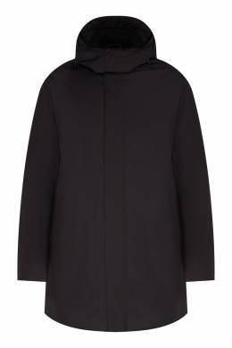 Темно-серая куртка с капюшоном Emporio Armani 2706156344