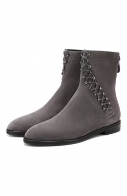Замшевые ботинки Alaia 9W3T068CH43