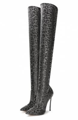 Текстильные ботфорты Casadei 1T927N120MT00269202