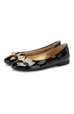 Кожаные балетки Versace YHF00021/YB00119/34-40