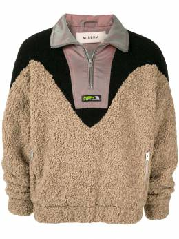 Misbhv флисовый свитер на молнии 119M073BEIGE