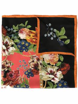 Dolce & Gabbana платок с цветочным принтом и логотипом FN092RGDR57