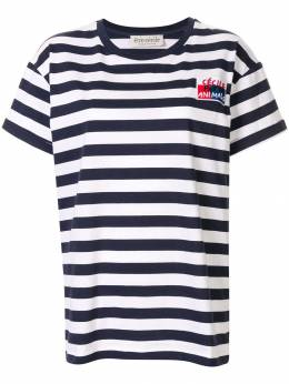Etre Cecile футболка в бретонскую полоску с вышивкой BADGEBRETONOVRT