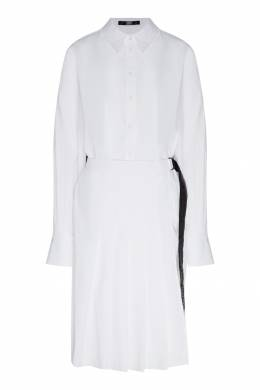 Белое платье-рубашка со складками Karl Lagerfeld 682156980