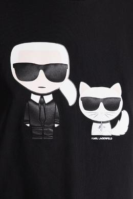 Черная футболка с фирменной отделкой Karl Lagerfeld 682156999