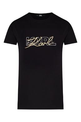 Черная футболка с логотипом Karl Lagerfeld 682156971