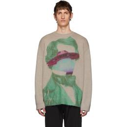 Valentino Beige Undercover Edition V Face UFO Sweater SV0KC06D5S1DU7