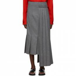 Marni Grey Pleated Skirt 192379F09200301GB