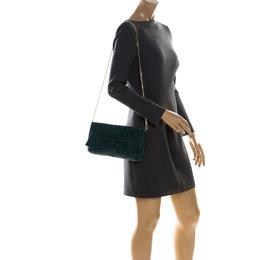 Carolina Herrera Green Monogram Leather Audrey Shoulder Bag 226925