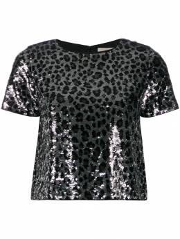 MICHAEL Michael Kors декорированная футболка с леопардовым принтом MF95M2CCJE033