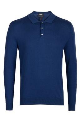 Темно-синее поло с длинными рукавами Strellson 585157875