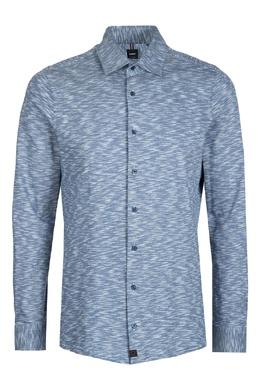 Приталенная синяя рубашка из хлопка Strellson 585157873