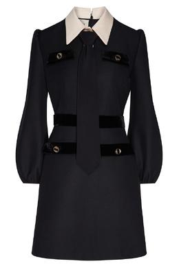 Черное платье с белым воротником Gucci 470157048
