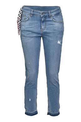 Укороченные синие джинсы с платком Liu Jo 1776157443