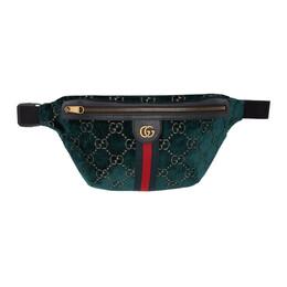 Gucci Blue GG Velvet Belt Bag 192451M14900101GB