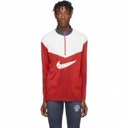Nike Red and White Gyakusou Half-Zip Sweater CD7109
