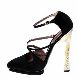Missoni Black Satin Ankle Strap Sandals Size 40 233294