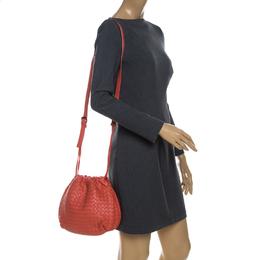 Bottega Veneta Orange Intrecciato Leather Crossbody Bag 229513