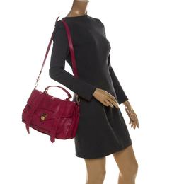 Proenza Schouler Magenta Leather Large PS1 Top Handle Bag 229768