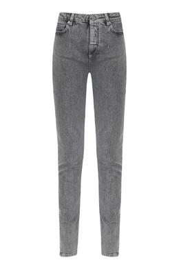 Серые джинсы с высокой посадкой Alberta Ferretti 1771157676