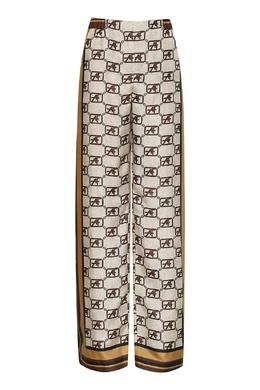 Принтованные шелковые брюки Alberta Ferretti 1771157667